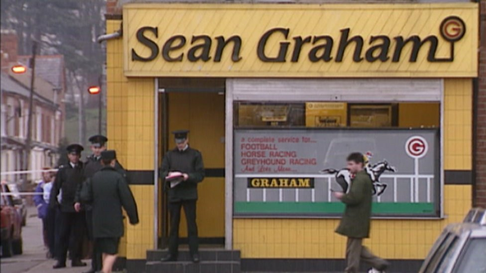 RUC officers at scene of Sean Graham's bookies shop attack