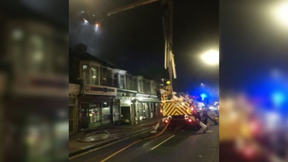 London Fire Brigade fire engines