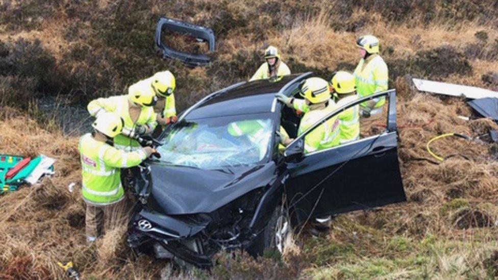 Skye crash survivor in 'keep left' campaign