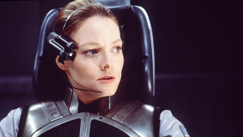 "Jodie Foster en ""Contacto"""