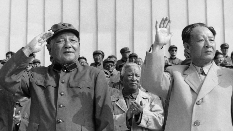 Archive picture of Deng and Hu