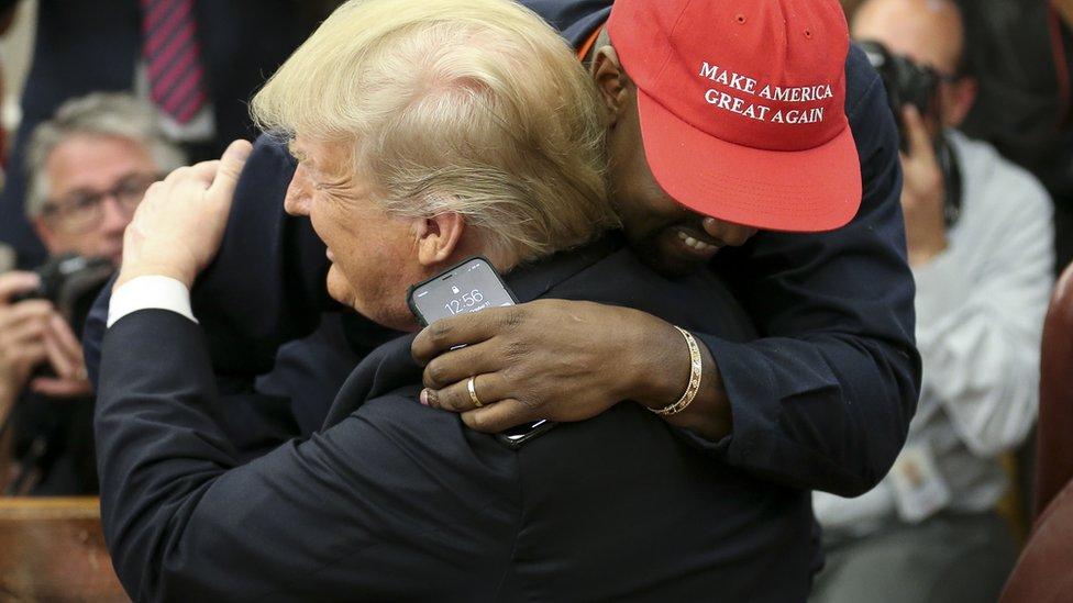 Kanje Vest i Donald Tramp