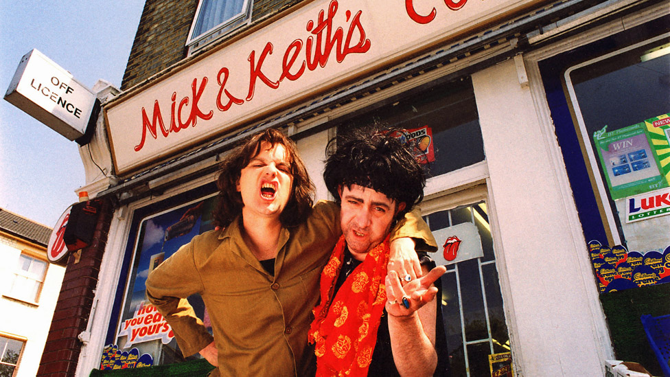 Phil Cornwell as Mick Jagger and John Sessions as Keith Richards in Stella Street