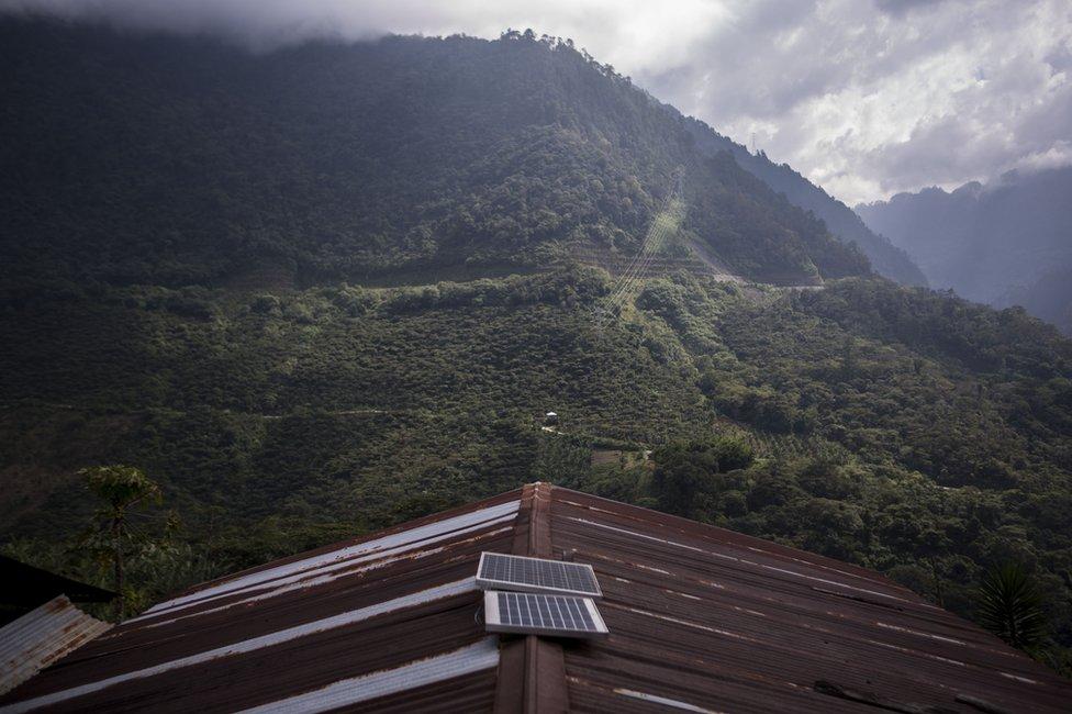 Vista desde la casa de Catarina Mejía en Xeputul 2, Guatemala