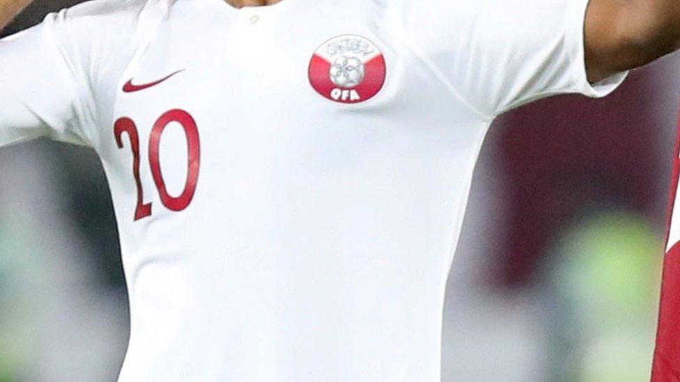 Qatar football shirt row Briton 'leaves UAE custody'