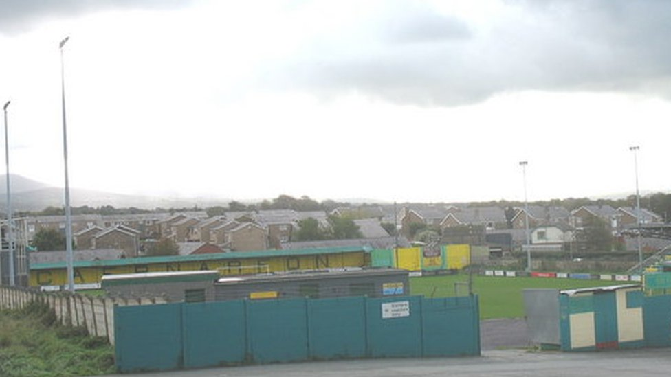 The Oval, home of Caernarfon Town