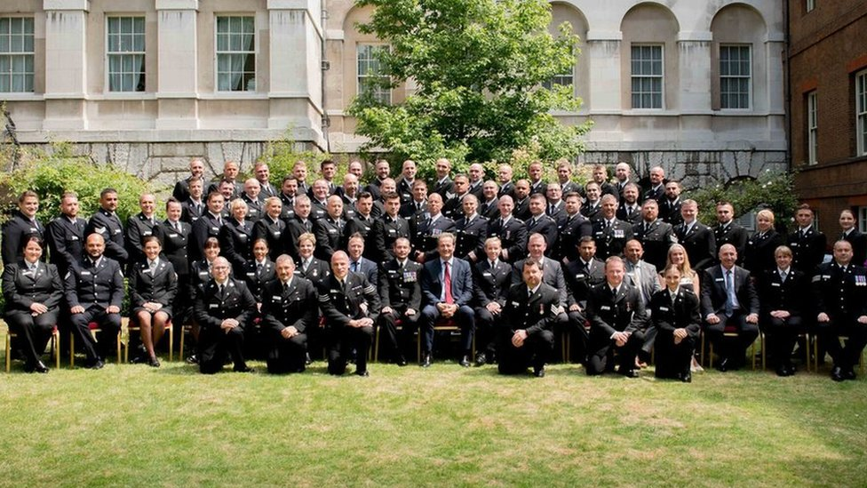 Terror attack police officers honoured