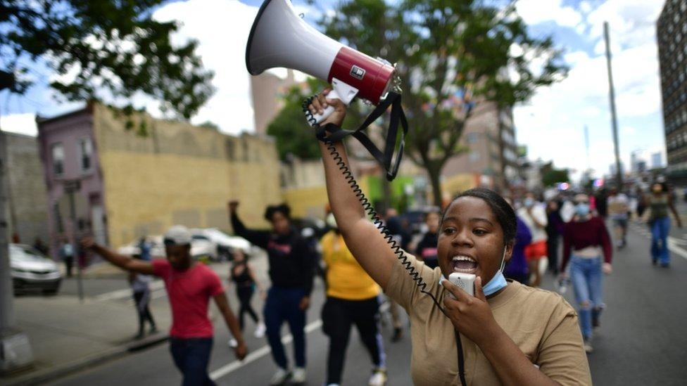 Protesta en Filadelfia.