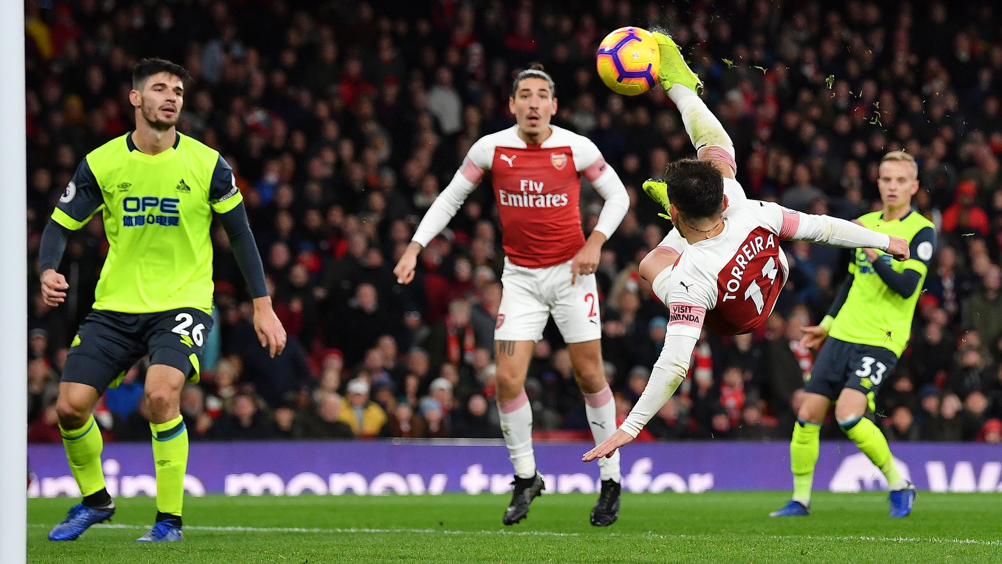 Arsenal 1-0 Huddersfield Town: Lucas Torreira's late stunner sees hosts overcome Terriers