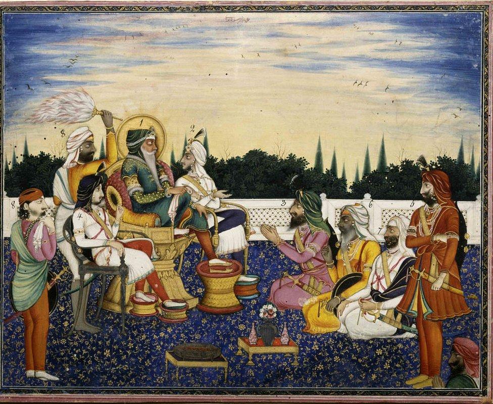Ranjit Singh con otros