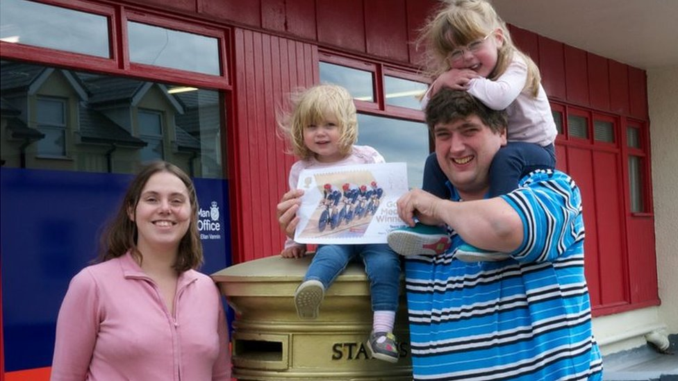 The George family at the box of Peter Kennaugh in Onchan