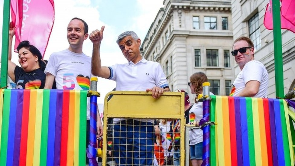 Mayor Sadiq Khan at Pride London
