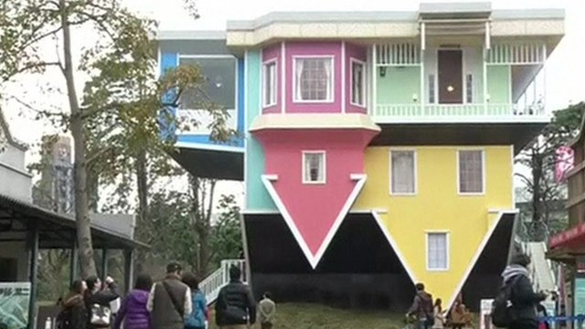 Taipei's upside-down house