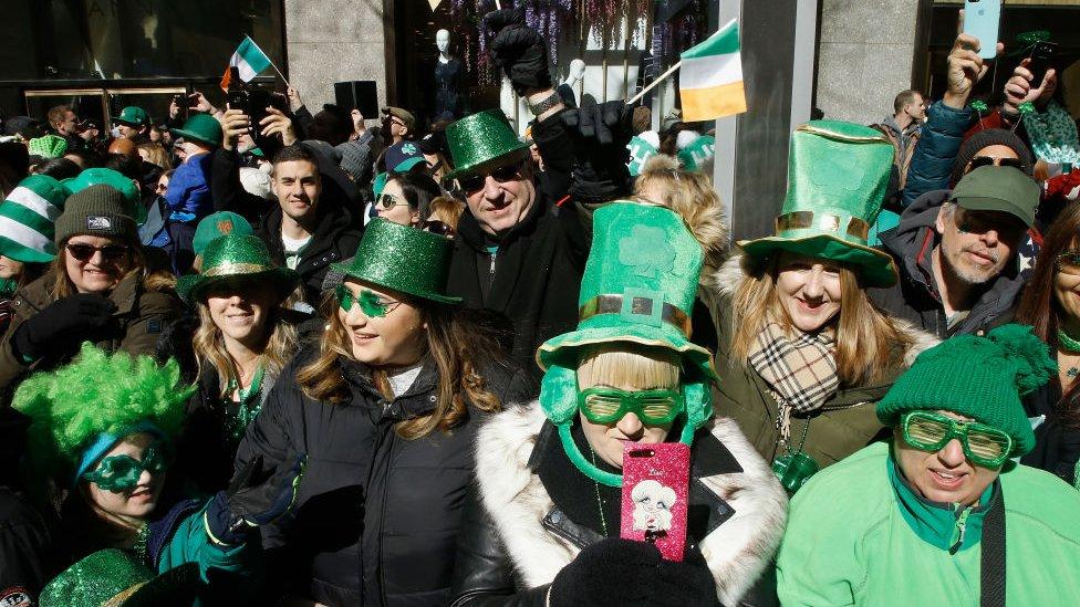 Celebración de San Patricio en Nueva York.