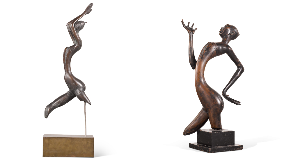 Composite of two sculptures