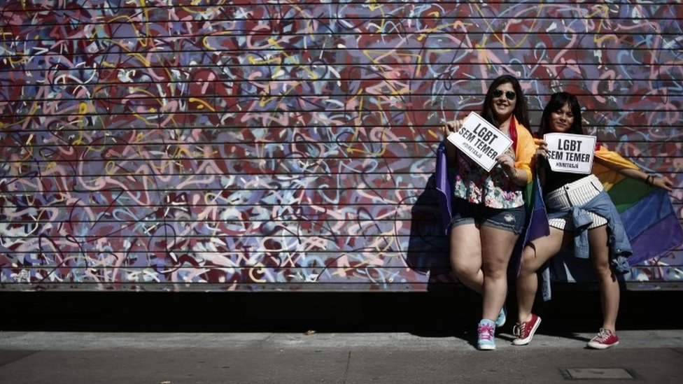Sao Paulo Gay Pride draws huge crowd and call to protect rights - BBC News
