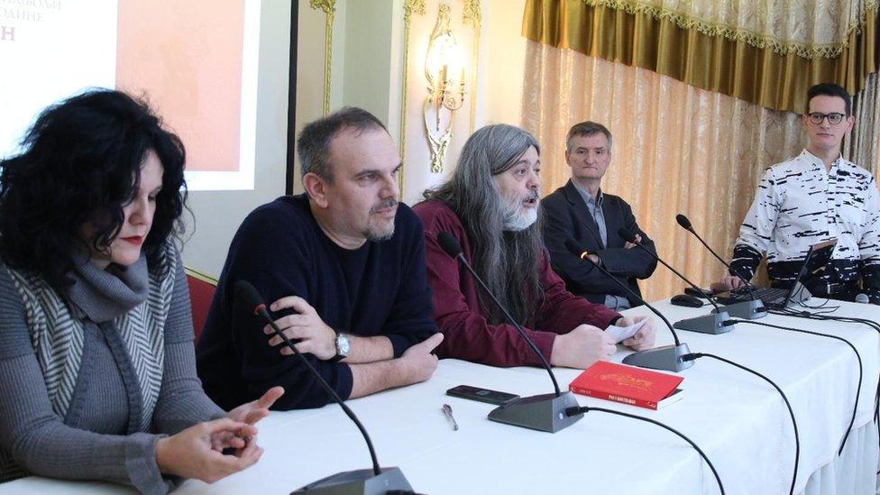 Marija Nenezić, Saša Ilić, Teofil Pančić i Ivan Milenković