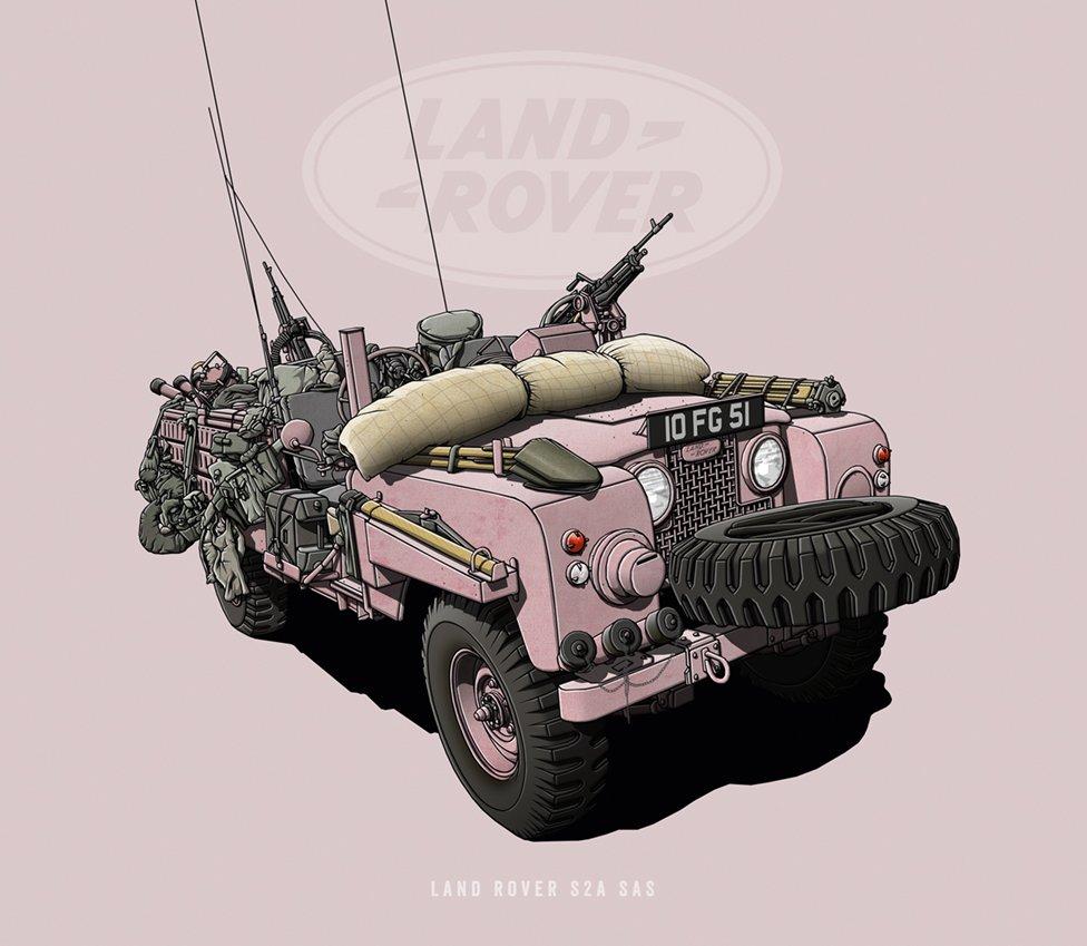 """Land Rover S2A SAS - """"Pink Panther"""""""