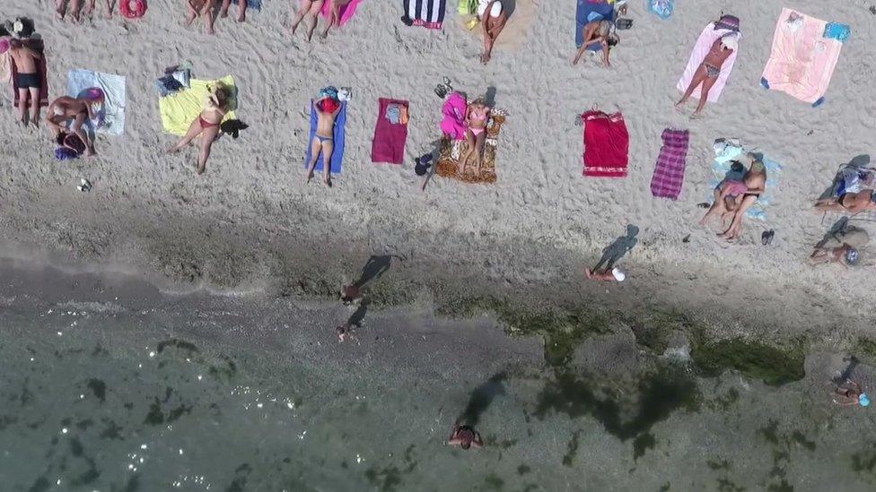 Playa en Odesa