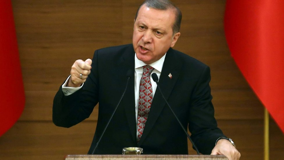Recep Tayyip Erdogan speaks in Ankara (10 February 2016)
