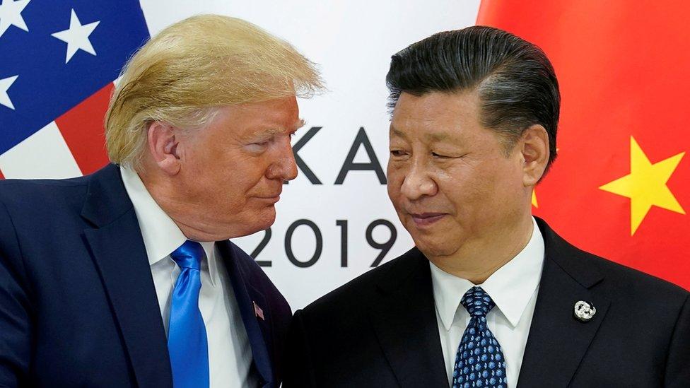 """特朗普曾表示,他相信習近平在處理香港示威浪潮上""""會作出正確的決定""""。"""