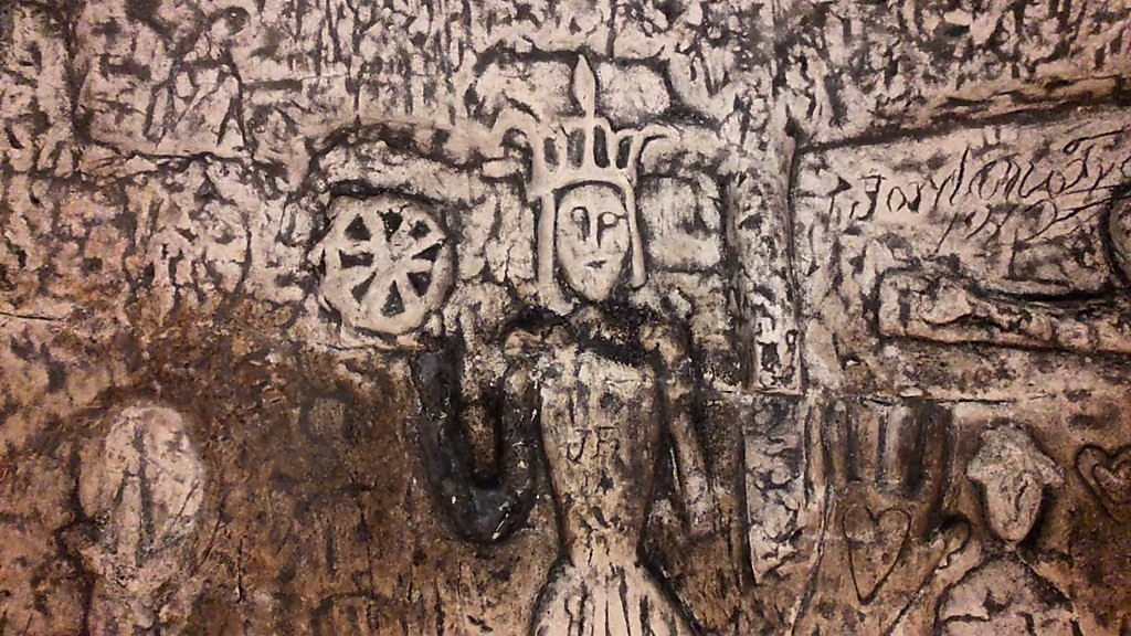 Royston Cave: 'Knights Templar' carvings at risk