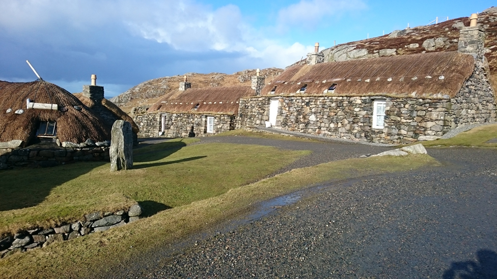 Black houses on the Isle of Lewis