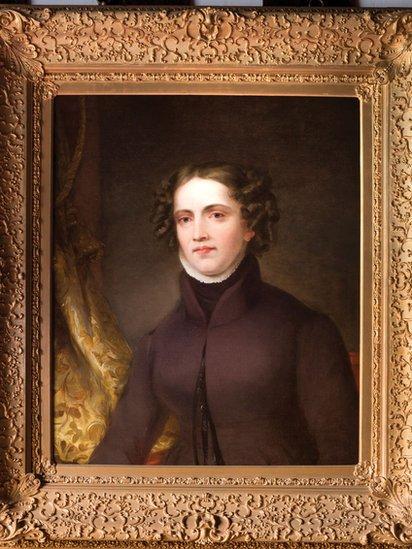 Retrato de Anne Lister en un cuadro.