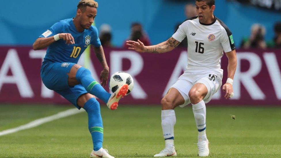 Neymar volvió a demostrar su extremo talento en el partido frente a Costa Rica en el Mundial de Rusia.