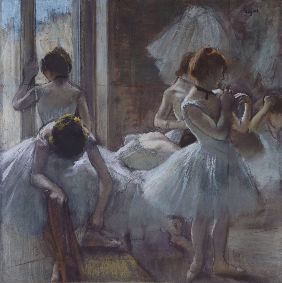 Dancers, 1884-1885 by Degas