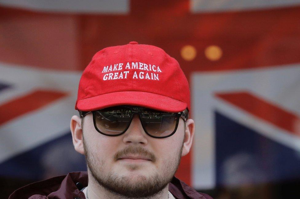 Un simpatizante de Trump en Windsor
