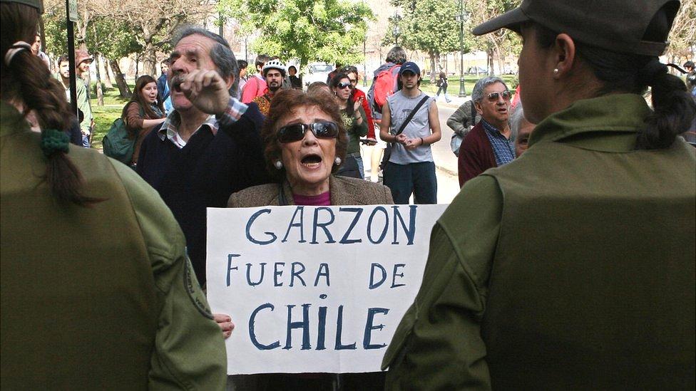 Protesta contra Baltasar Garzón