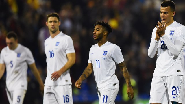 England lose 2-0 to European Champions Spain