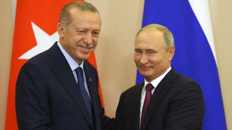 فلاديمير بوتين ورجب طيب أردوغان
