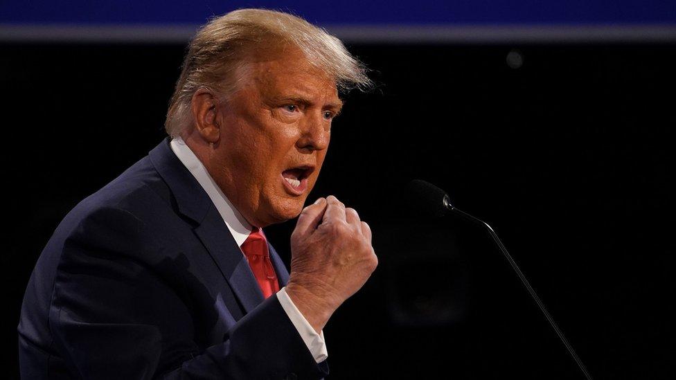 Donald Trump debates Joe Biden