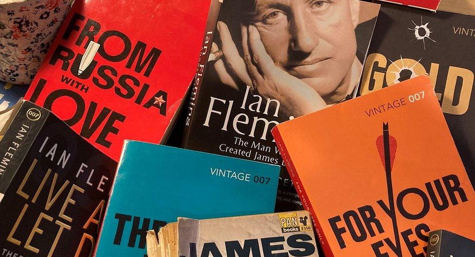 Montage of James Bond books