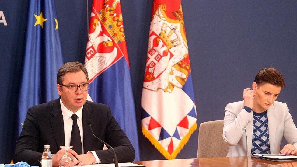 Predsednik Srbije Aleksandar Vučić i premijerka Ana Brnabić