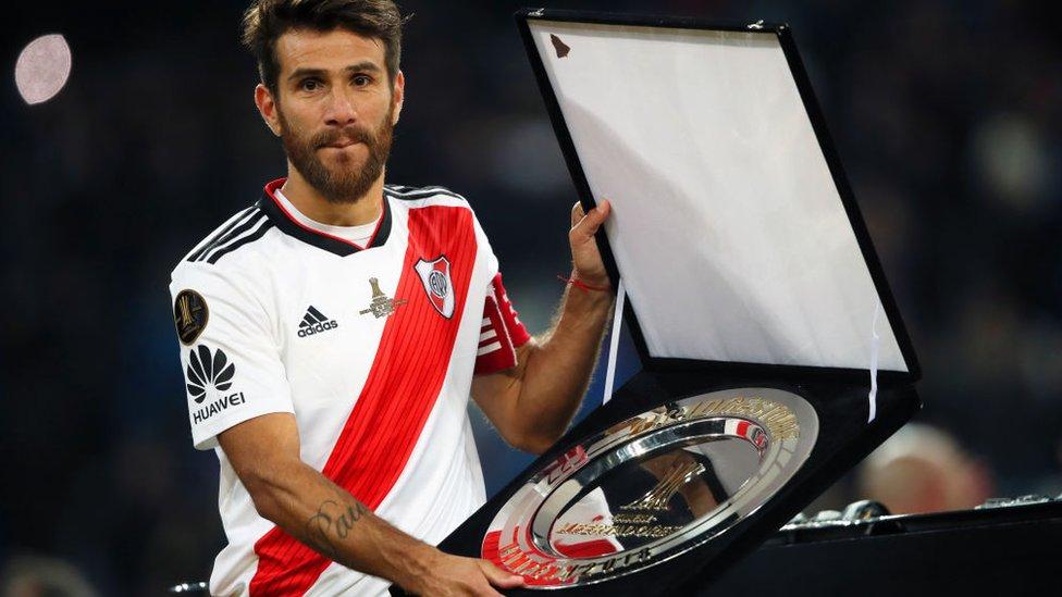 Leonardo Ponzio en la final de la Copa Libertadores en Madrid