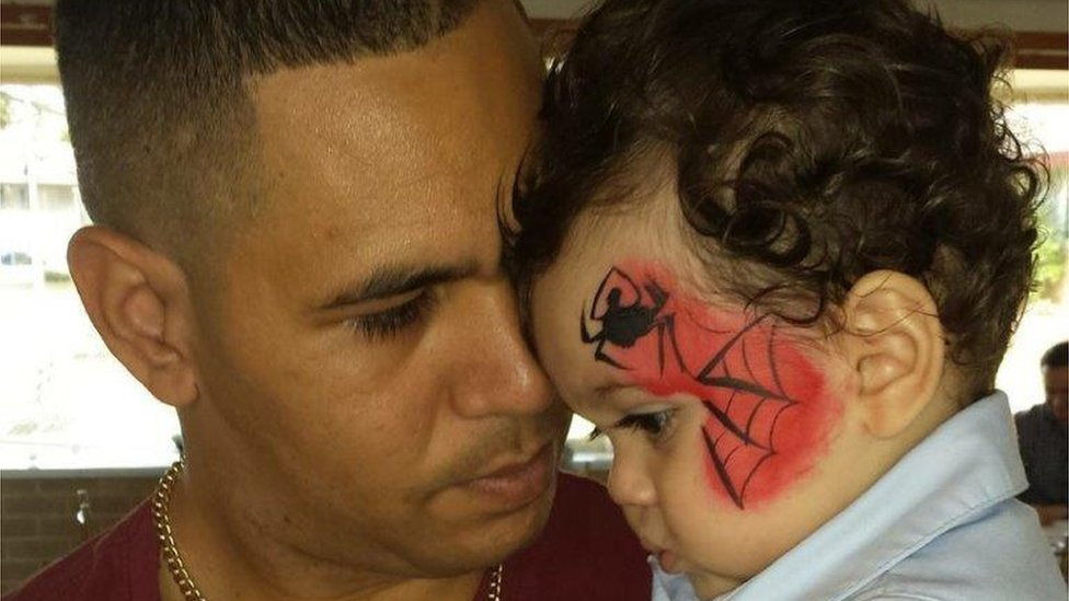 Keenan Mundine and son