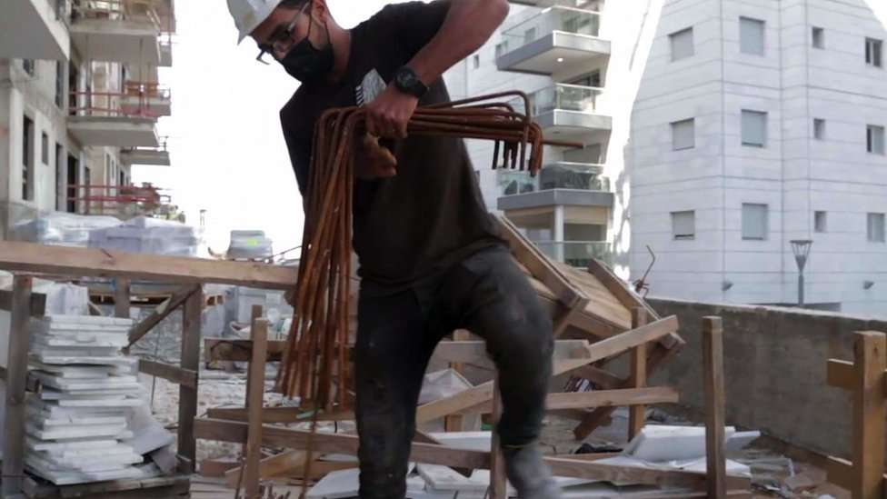 Mohammad on a building site