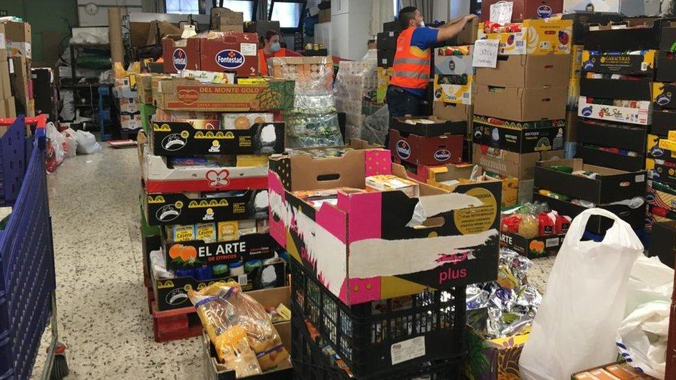 Banco de alimentos en Madrid