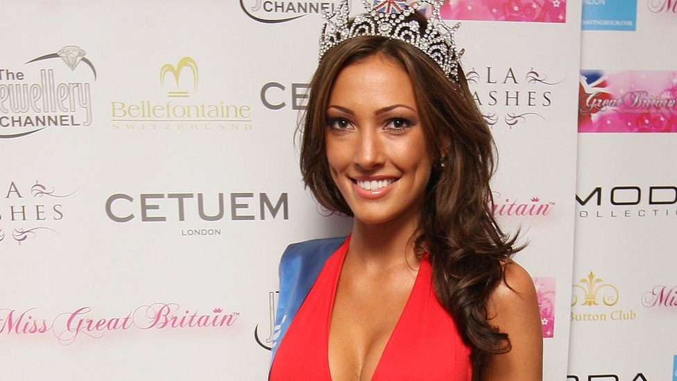 Sophie Gradon in 2010 after being crowned Miss Newcastle and Miss Great Britain