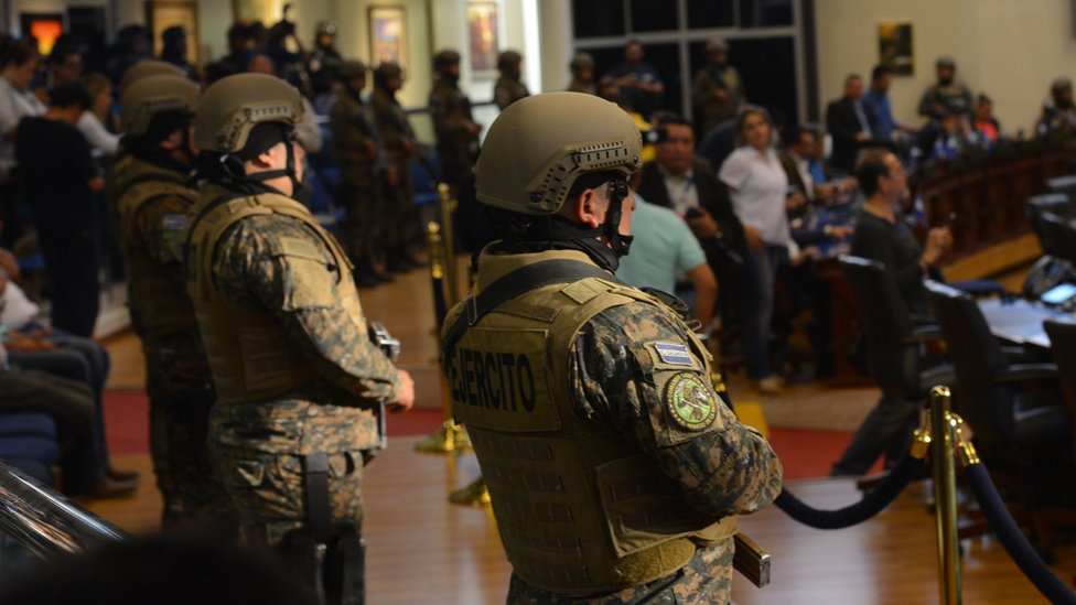 Militares en el Congreso