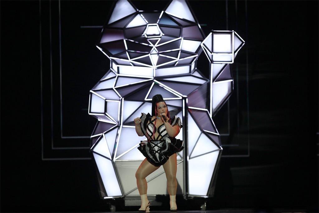 Netta rehearses for Eurovision