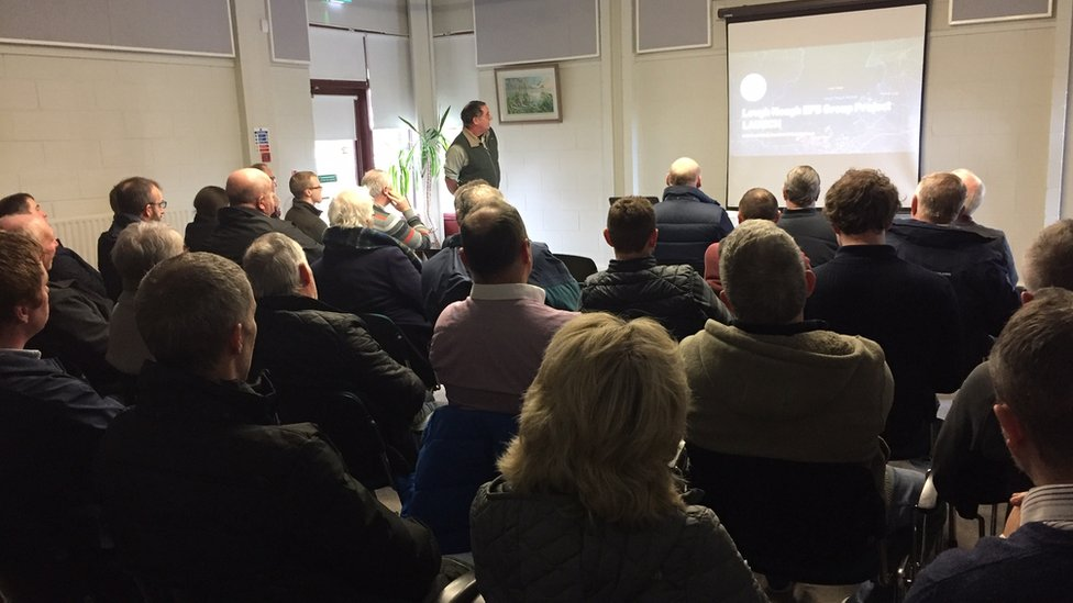 Farmers interested in the scheme attend the launch