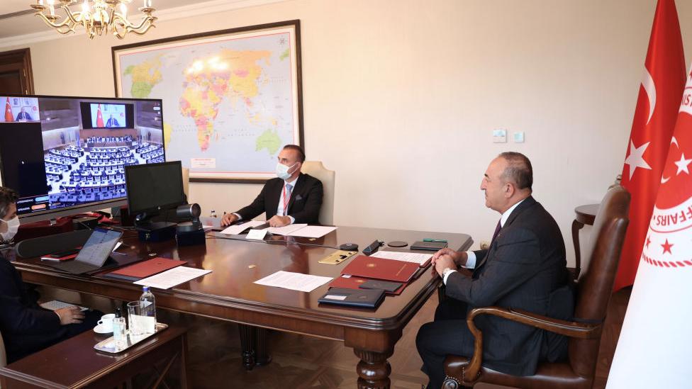 Bakan Çavuşoğlu, Afganistan'da yaşananlara ilişkin BM nezdinde bir toplantıda