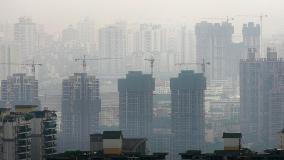 Zona de construcción en China