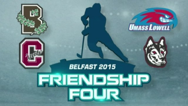 Ice hockey friendship four logo