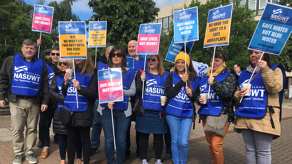 Coatbridge's Buchanan High teachers strike over health fears