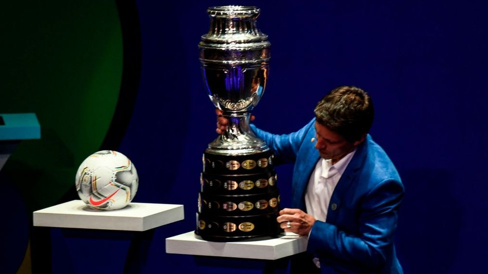 El trofeo de la Copa América